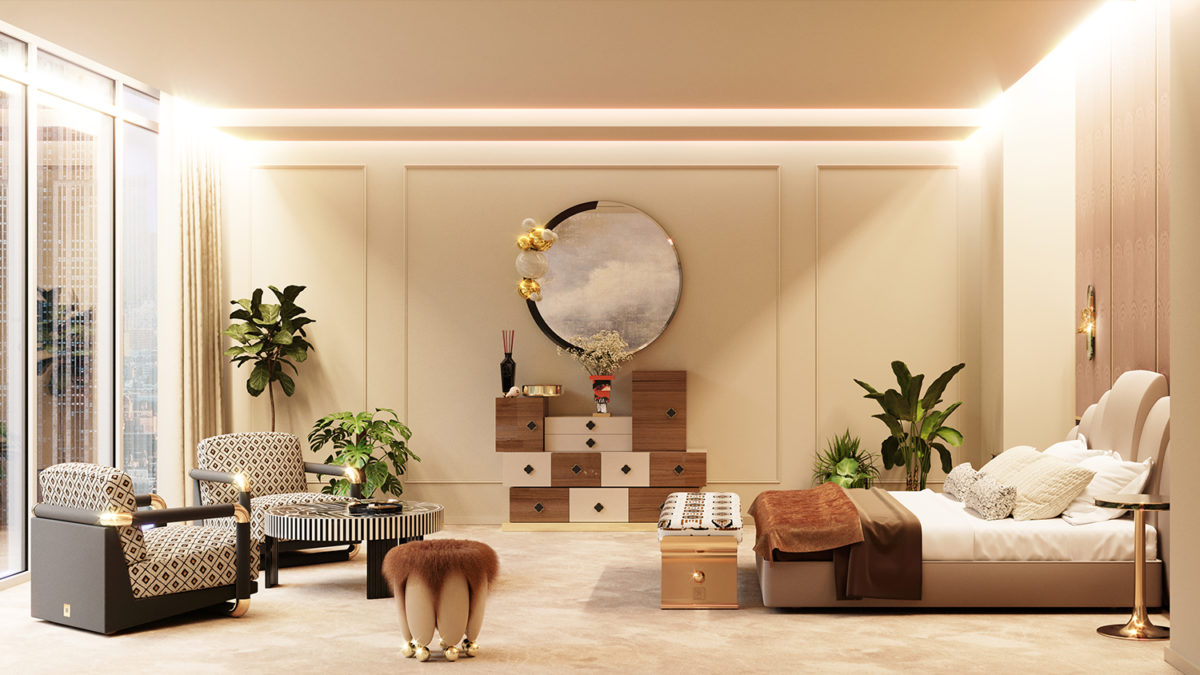 Bedroom Interior Design – Hommés Aligned With High-Design Brands