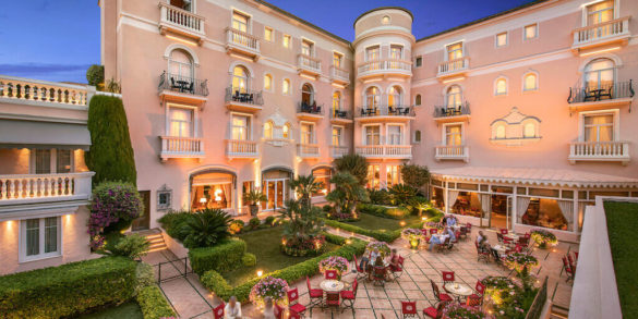 Luxury Pink Hotel in the French Riviera