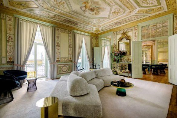 Hotel Changed Into An Elegant Apartment In Lisbon by Vitor Almeida