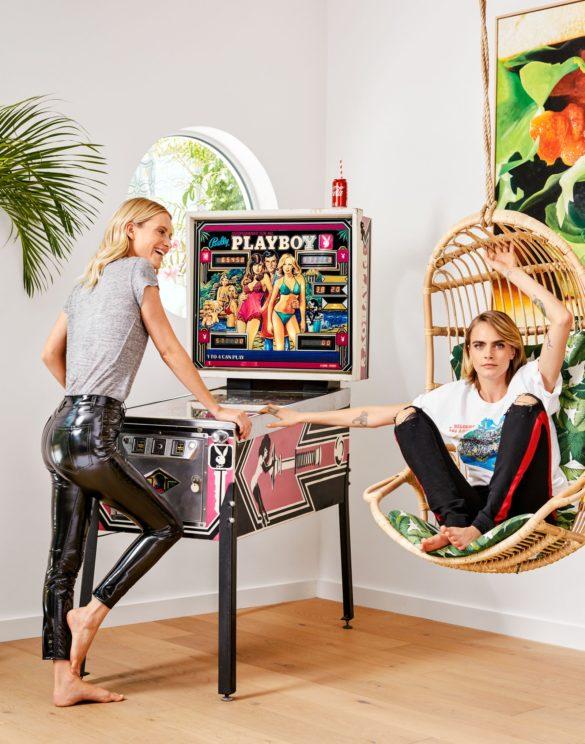 Cara and Poppy Delavigne's Colorful Home
