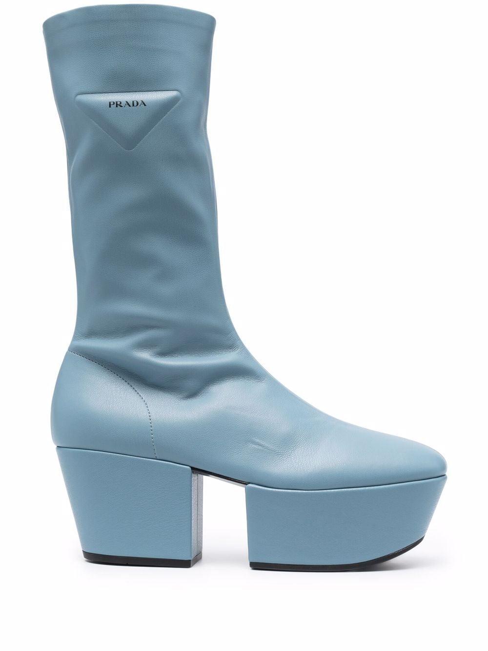 fall essentials items - prada chunky boots in blue