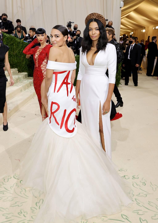aoc tax the rich met gala 2021 dress