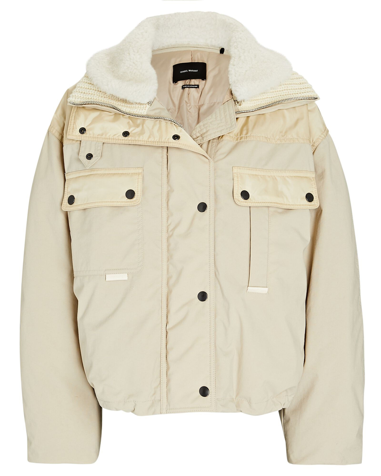 fall essential items - nude bomber jacket