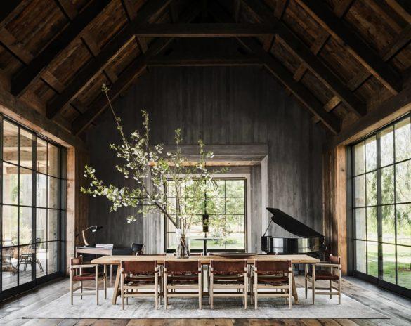 Mila Kunis and Ashton Kutcher Modern Rustic Celebrity Home